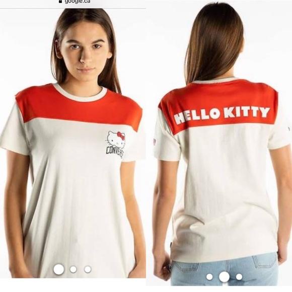 🆕 Converse X Hello Kitty Sz Med Tee